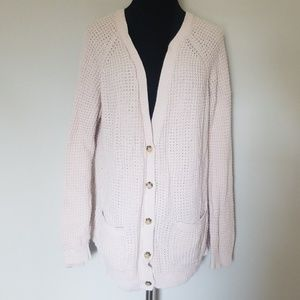 Forever 21 Beige Knitted Buttondown Cardigan Large